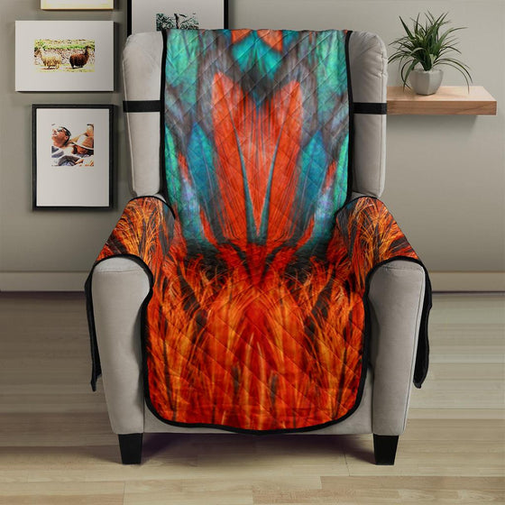 Home Decor - Flame Feathers Chair Sofa Cover