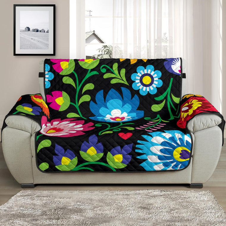 Home Decor - Floral Chair And A Half Covers