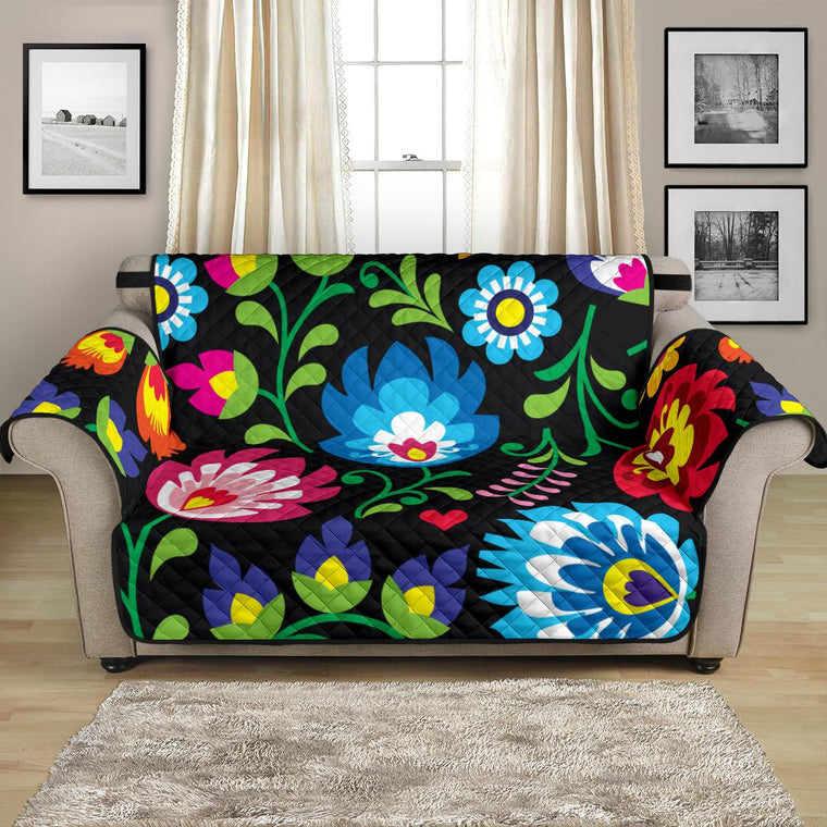 Home Decor - Floral Loveseat Sofa Cover
