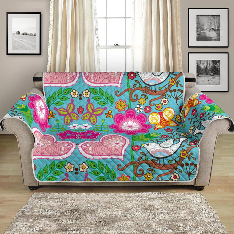 Home Decor - Love Birds Loveseat Sofa Cover