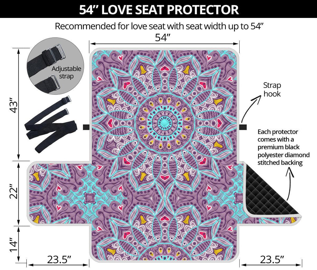 Home Decor - Love Mandala Loveseat Sofa Cover