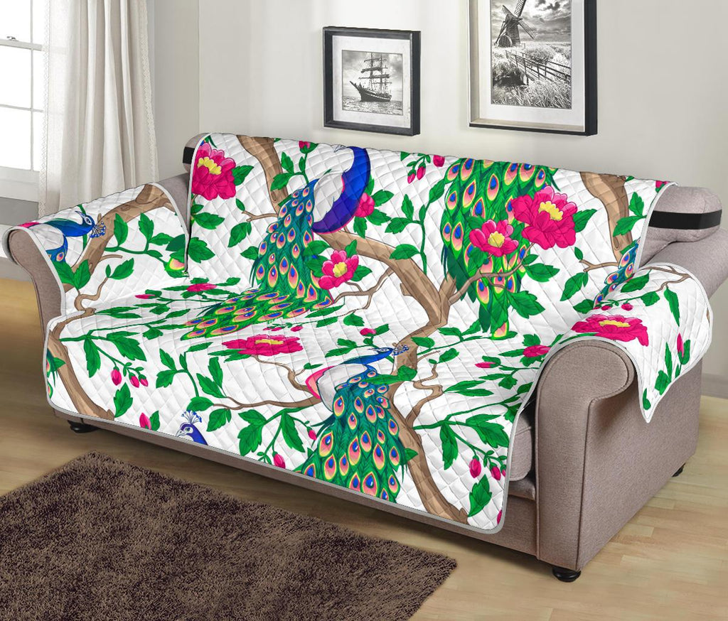 Home Decor - Peacock Sofa Protector