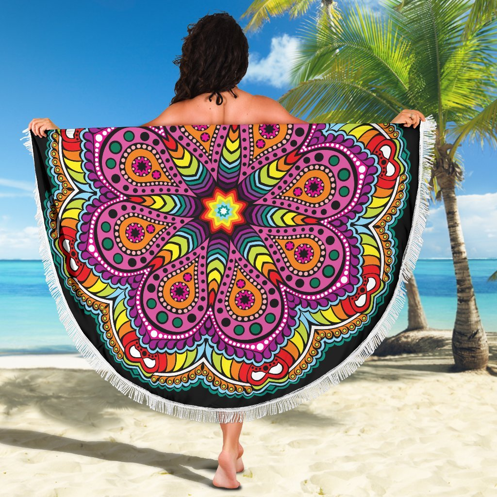 Joy Of Life Mandala Beach Blanket