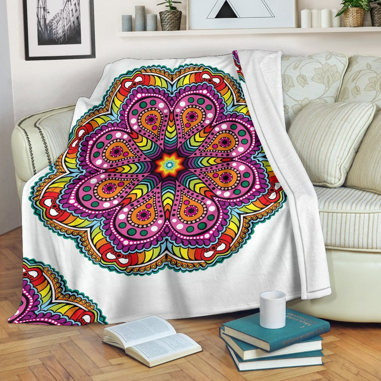 Joy Of Life Mandala Premium Blanket