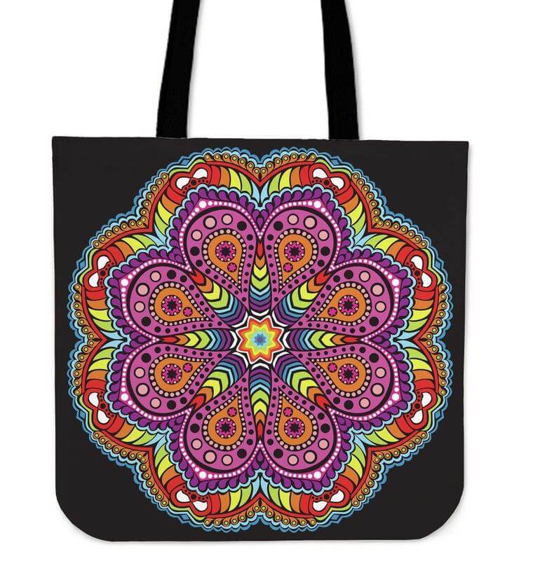 Joy Of Life Mandala Tote Bag