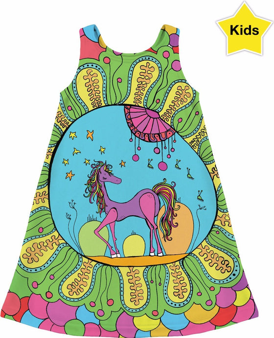 Kids Dresses - Dreamy Pony Kid's Dress