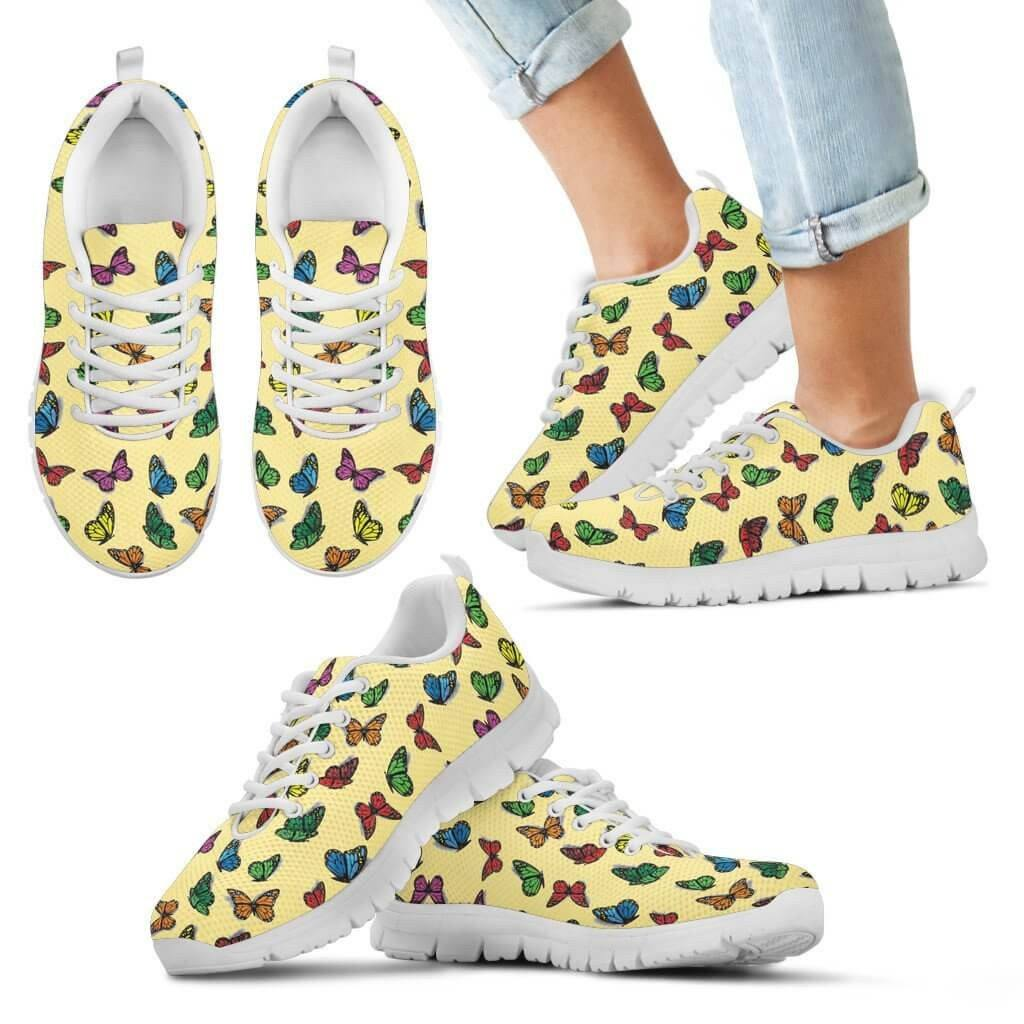 Kids Sneaker - Colorful Butterfly Kid's Sneakers