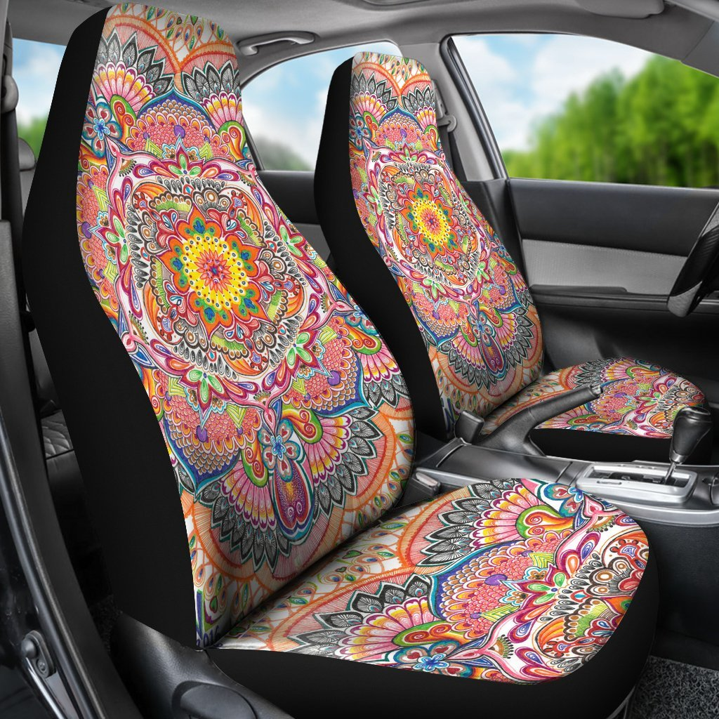 Life With Colors Mandala Car Seat Covers