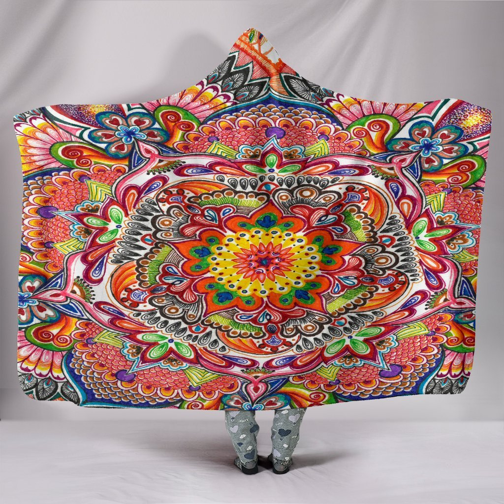 Life With Colors Mandala Hooded Blanket