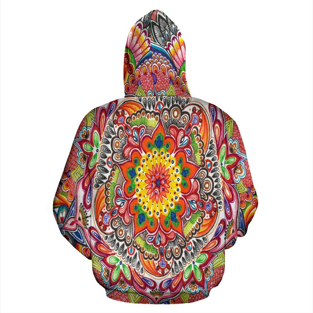 Life With Colors Mandala Hoodie