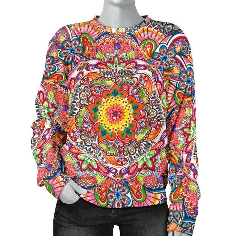 Life With Colors Mandala Sweater