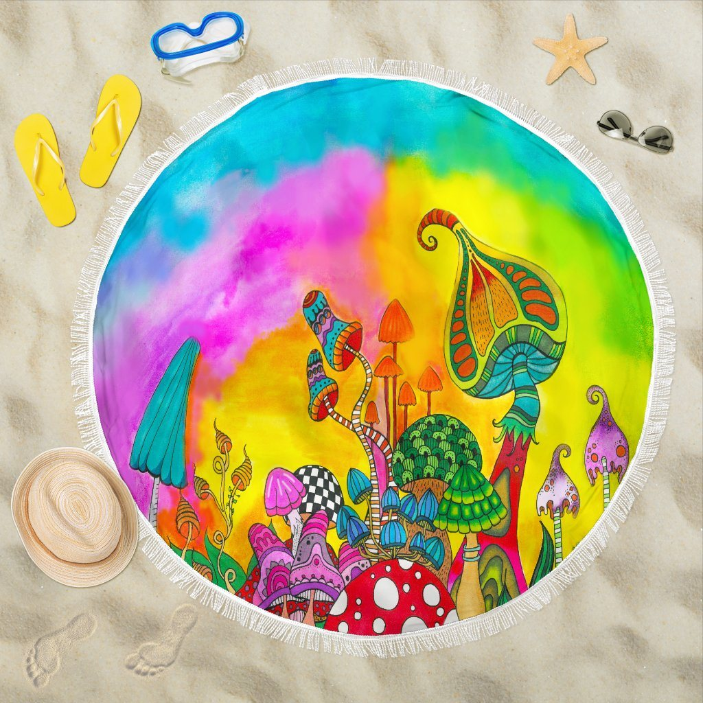 Magic Mushroom Beach Blanket