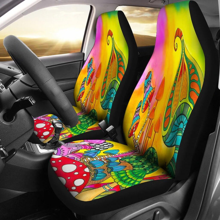 Magic Mushroom Car Seat Covers