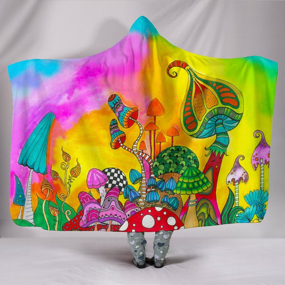 Magic Mushroom Hooded Blanket