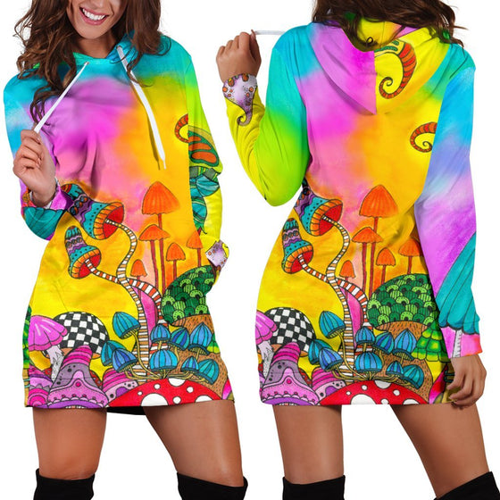 Magic Mushroom Hoodie Dress