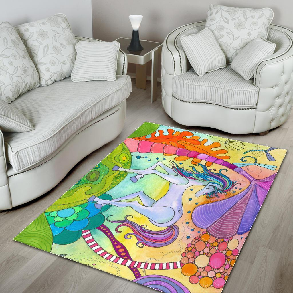 Magic Unicorn Area Rug