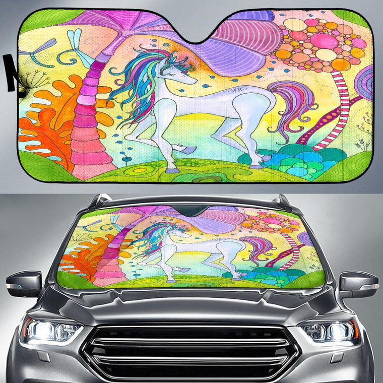 Magic Unicorn Auto Sun Shade