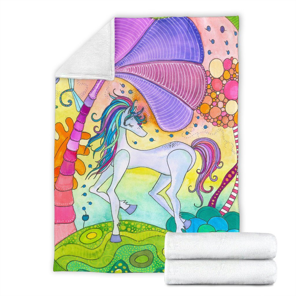 Magic Unicorn Premium Blanket