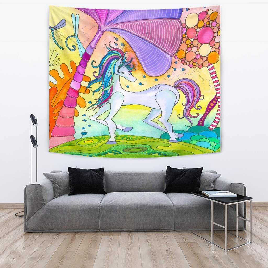 Magic Unicorn Wall Tapestry