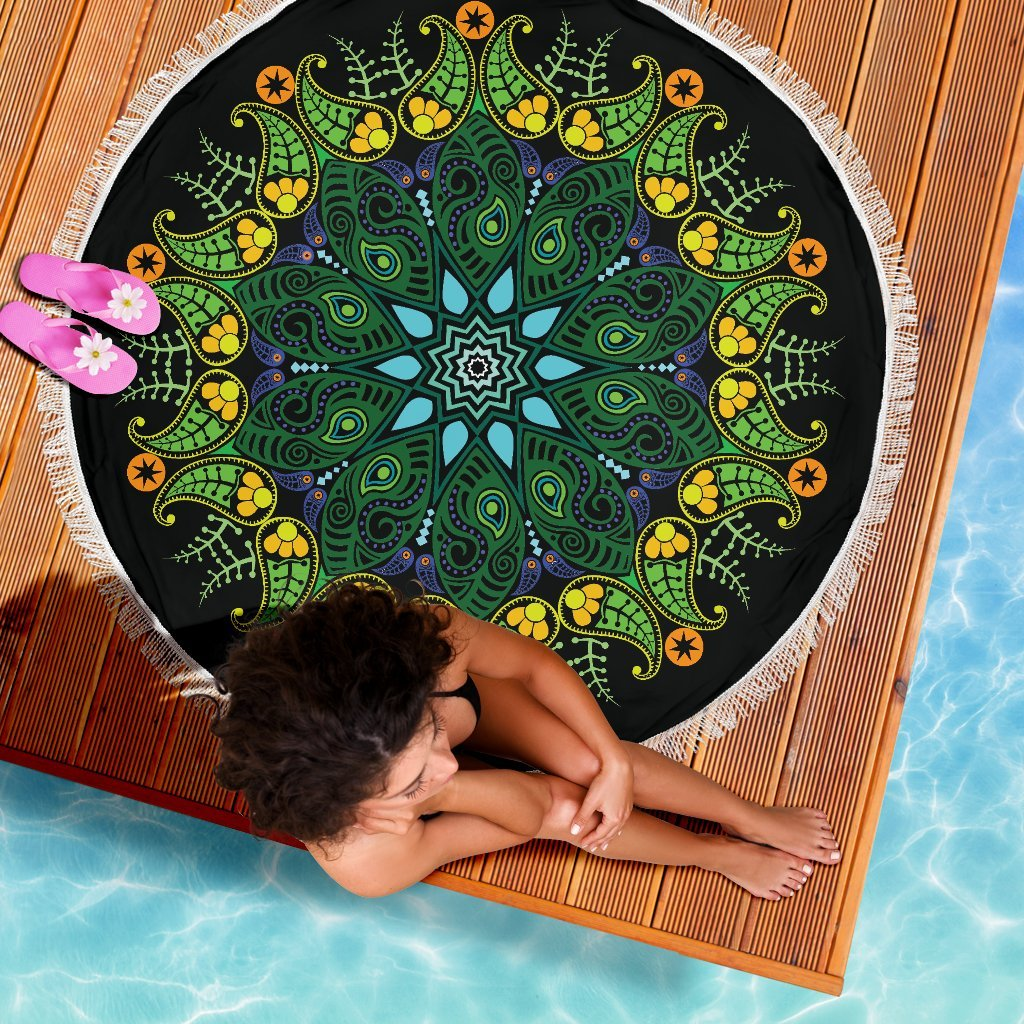 Nature Mandala Beach Blanket