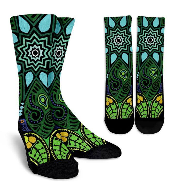 Nature Mandala Socks