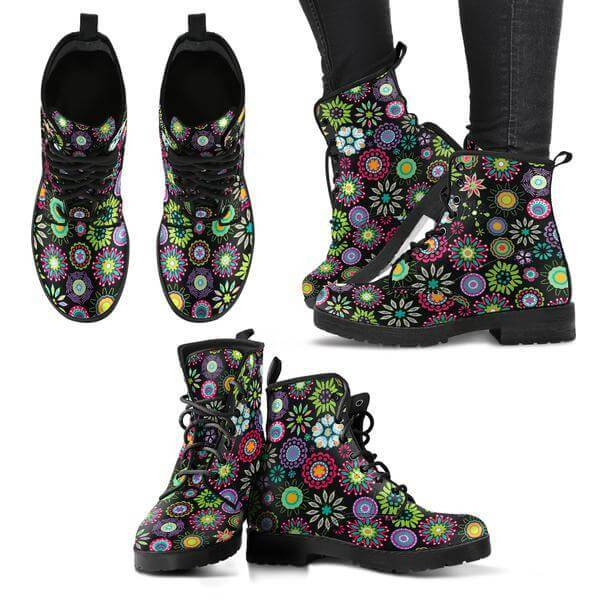 New Women Boots - Happy Flowers Boots