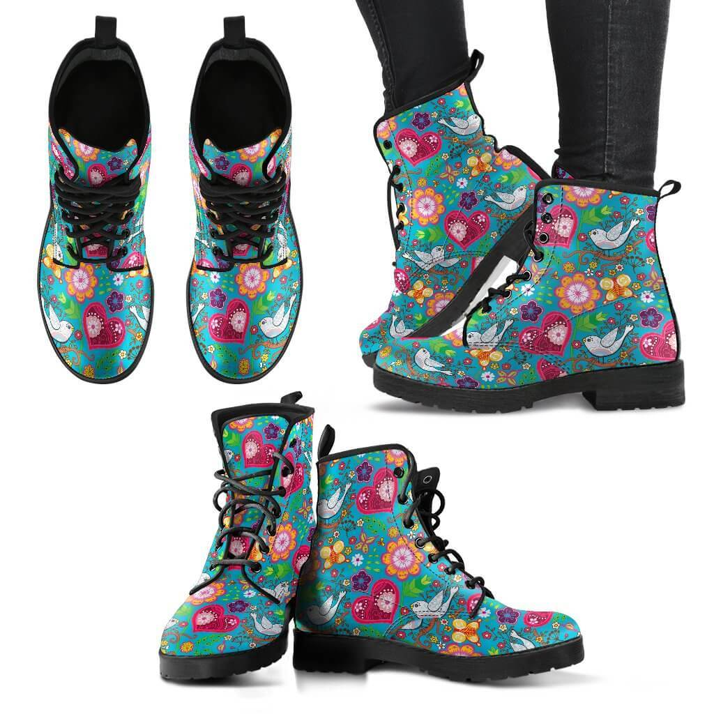 Women Boots - Love Birds Boots