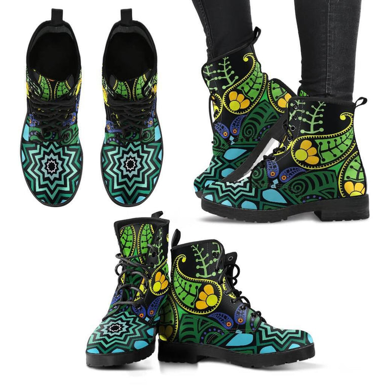 New Women Boots - Nature Mandala Boots