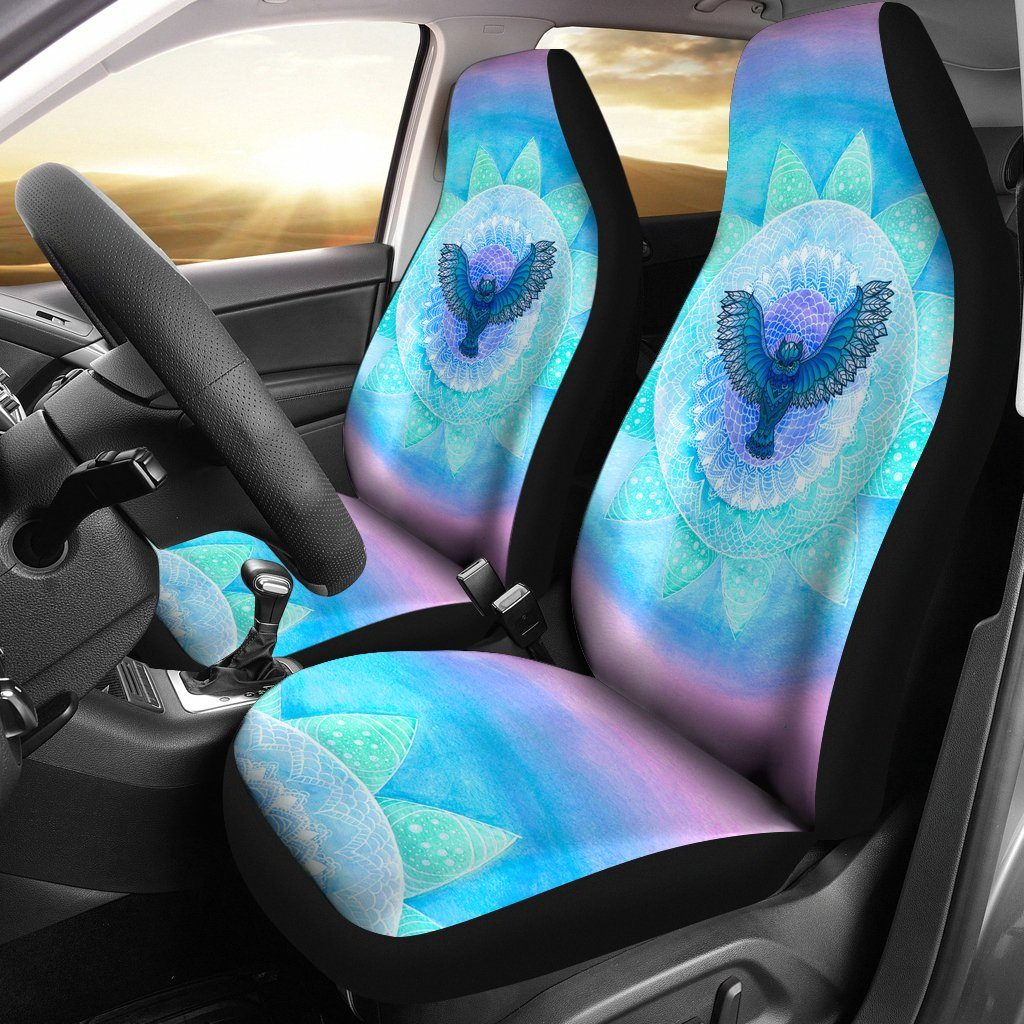Owl Mandala Car Seat Covers
