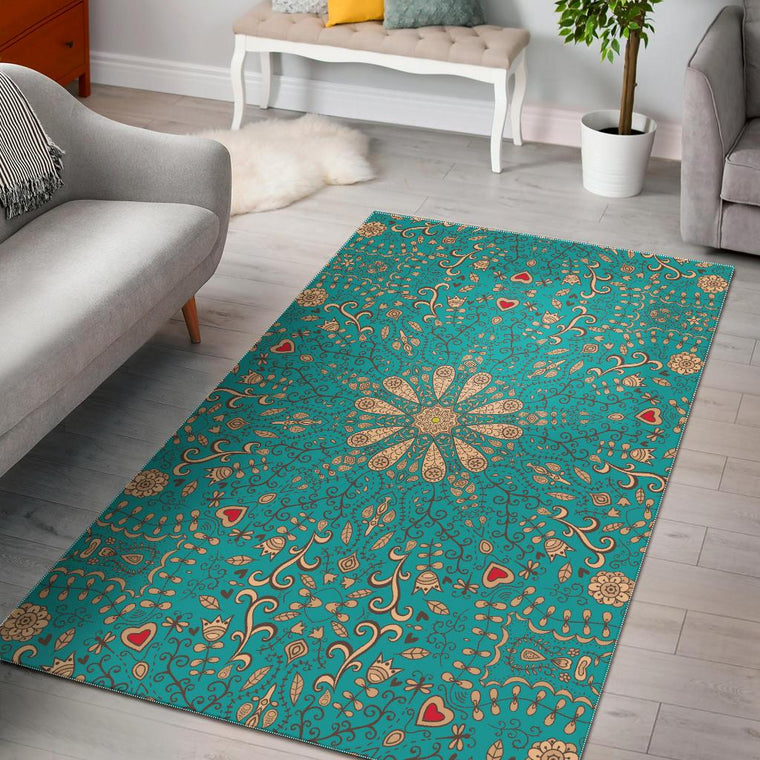 Peace Of Mind Mandala Area Rug