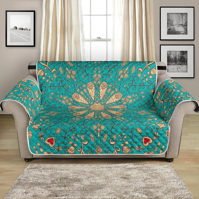 Peace Of Mind Mandala Loveseat Sofa Covers