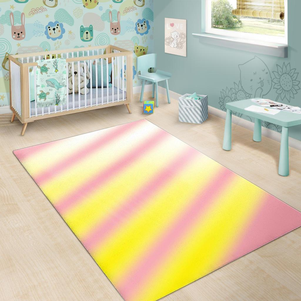 Pink Yellow Area Rug