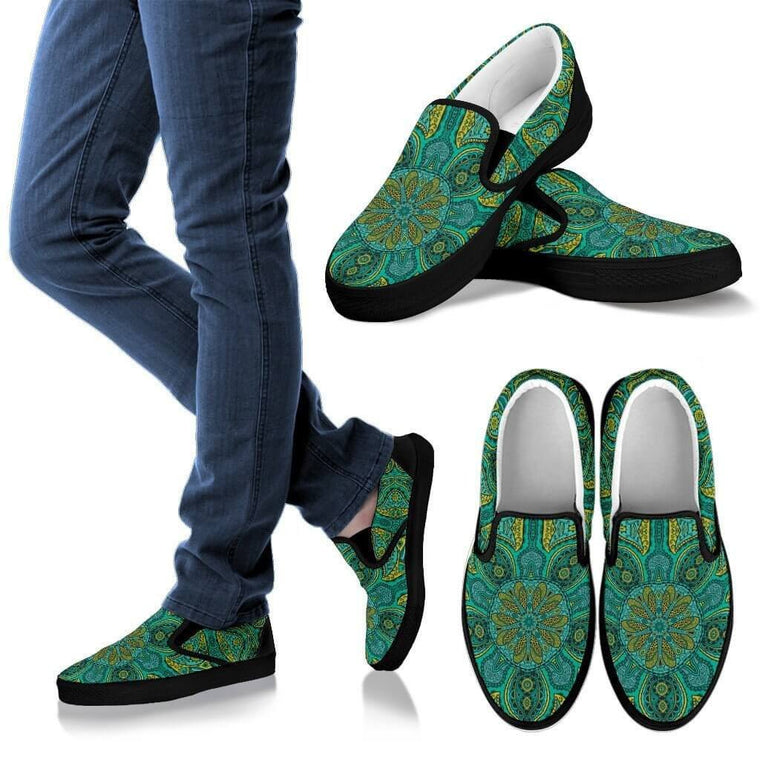 Power Mandala Slip Ons