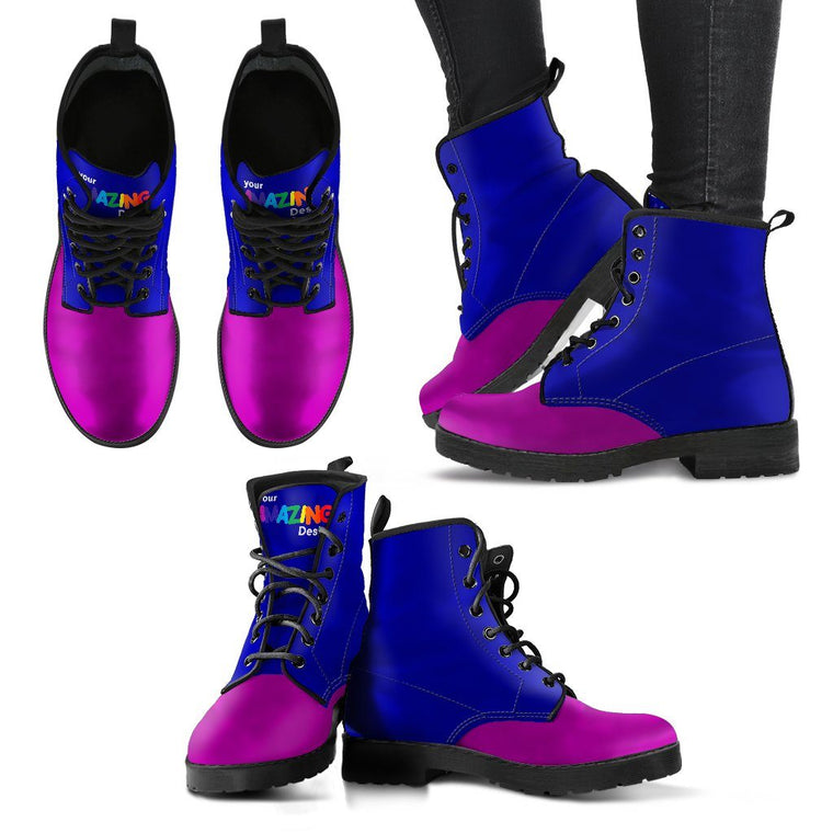 Purple And Blue Boots