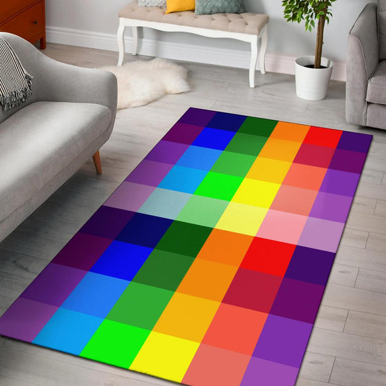 Rainbow Spectrum Area Rug