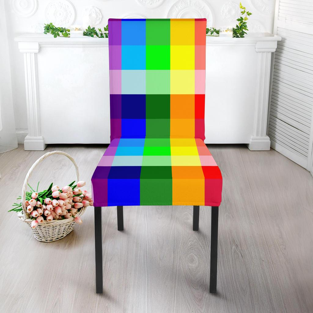 Rainbow Spectrum Dining Chair Slipcoevr