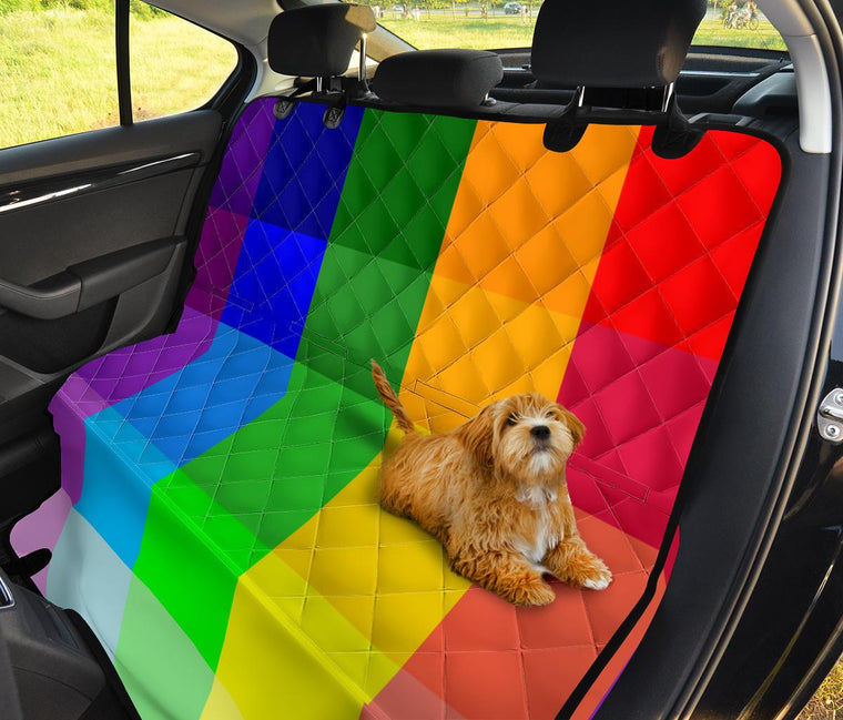 Rainbow Spectrum Pet Seat Covers