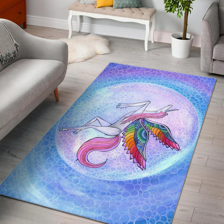 Rainbow Unicorn Area Rug