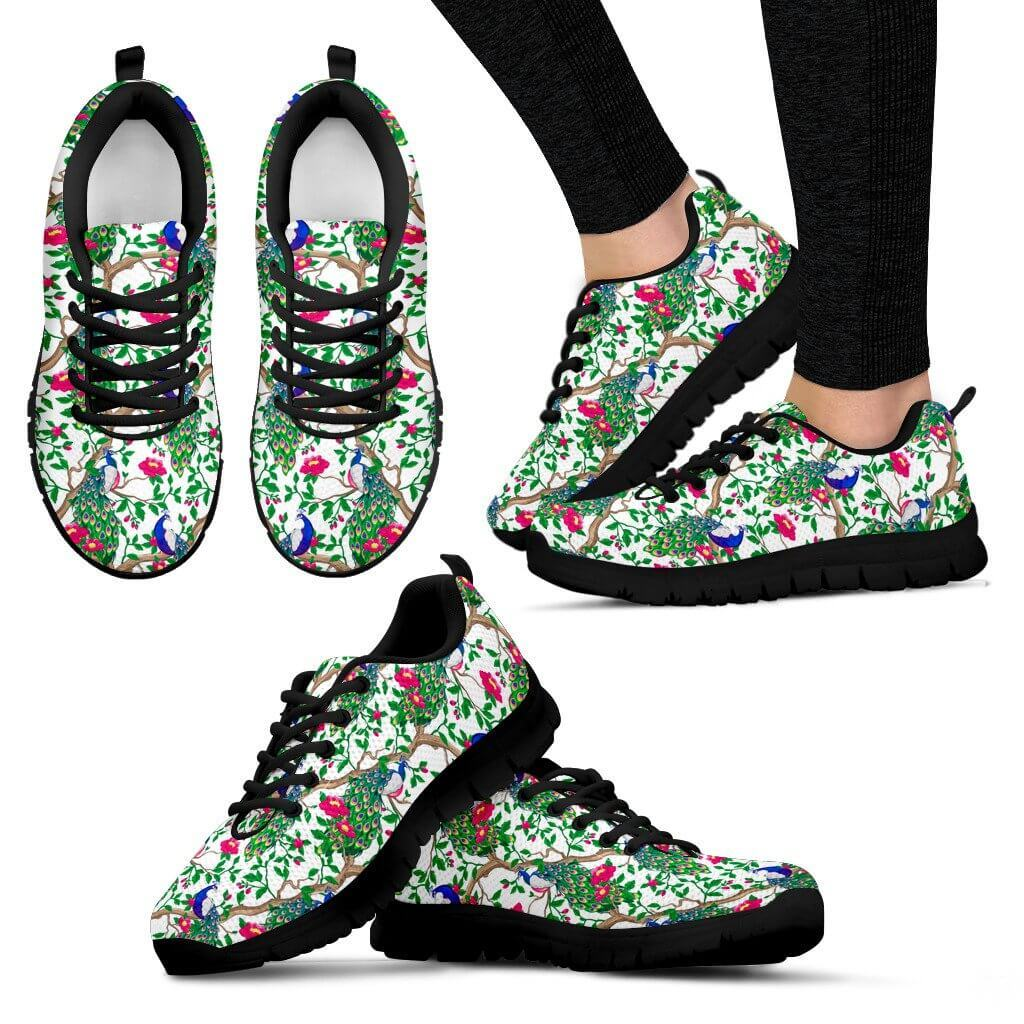 Shoes - Beautiful Peacock Sneakers