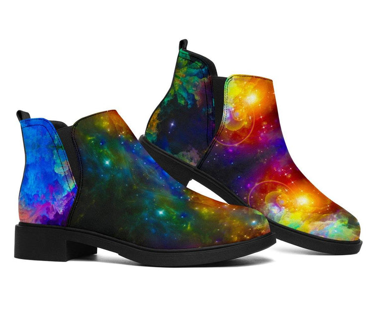 Shoes - Colorful Galaxy Fashion Boots