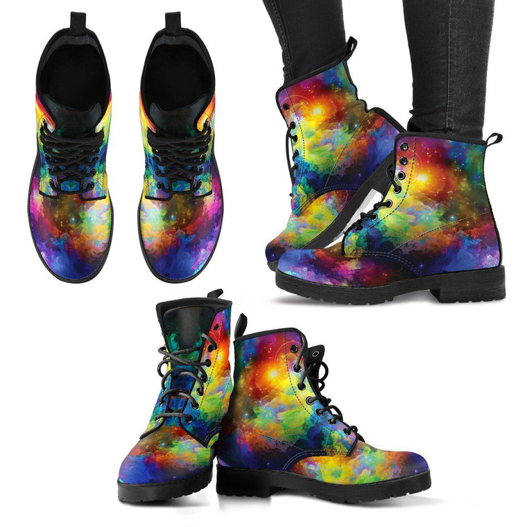 Shoes - Colorful Universe Boots