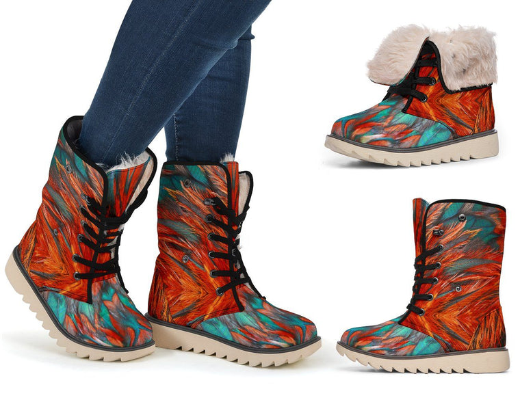 Shoes - Flame Feathers Polar Boots