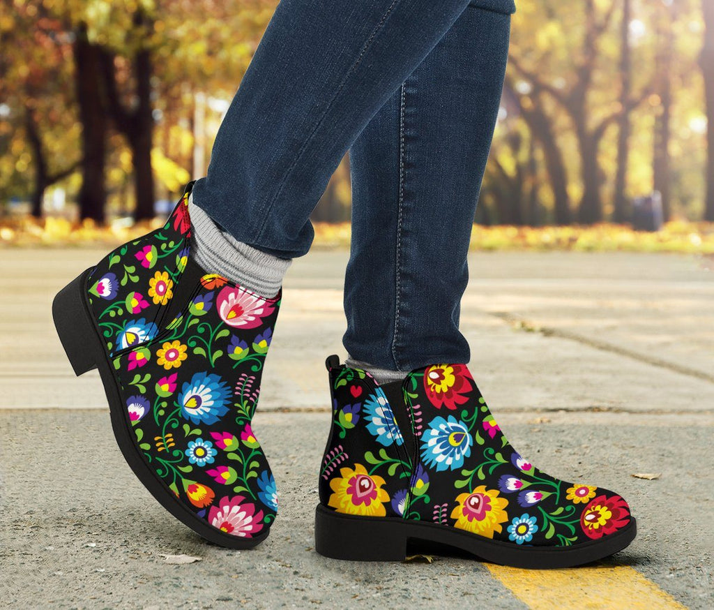 Shoes - Floral Fashion Boots