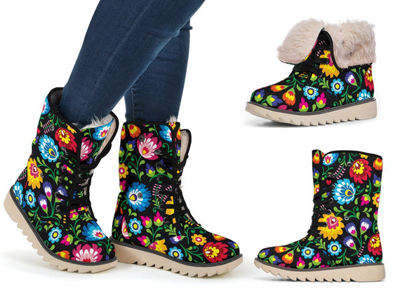 Shoes - Floral Polar Boots