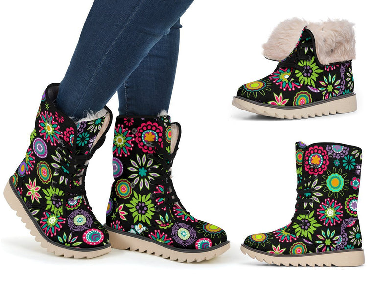 Shoes - Happy Flowers Polar Boots