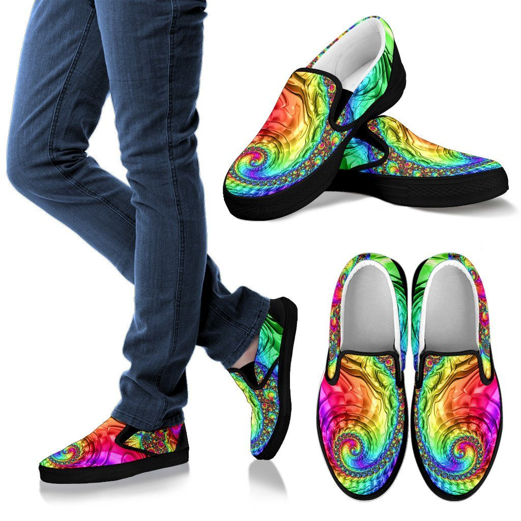 Shoes - Happy Rainbow Slip Ons