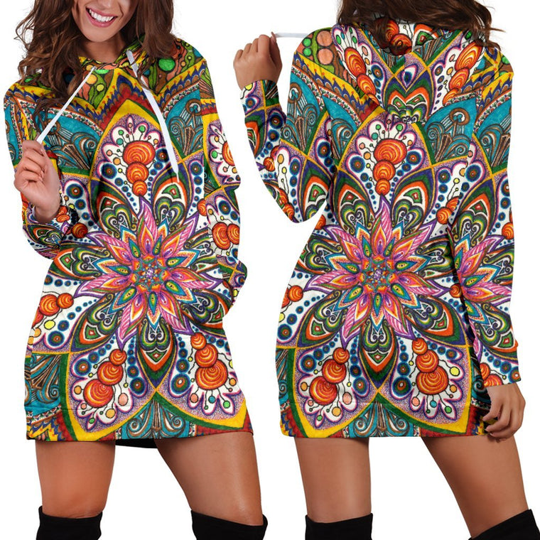 Star Mandala Hoodie Dress