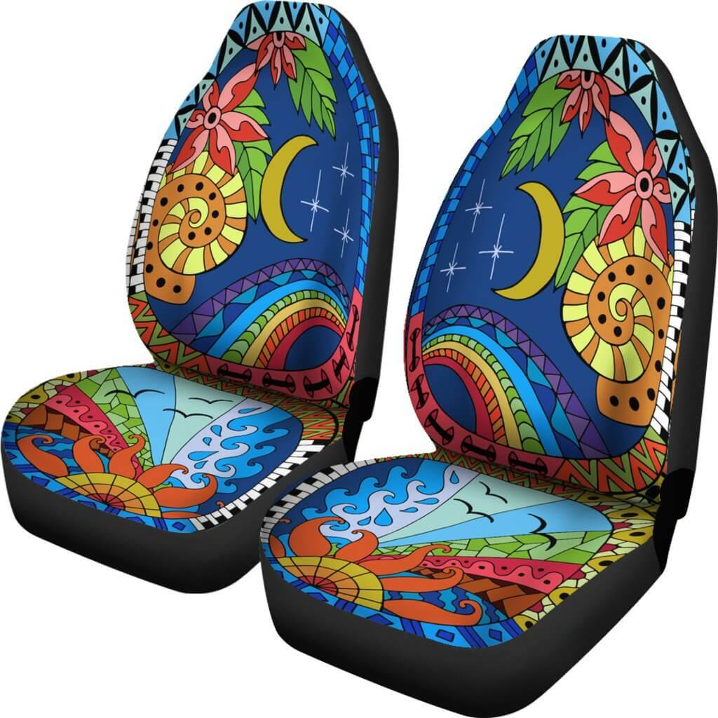 The Sun And The Moon Car Seat Covers