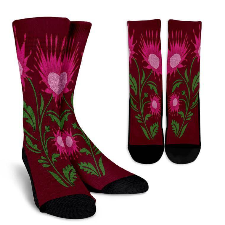 Time Flowers Socks