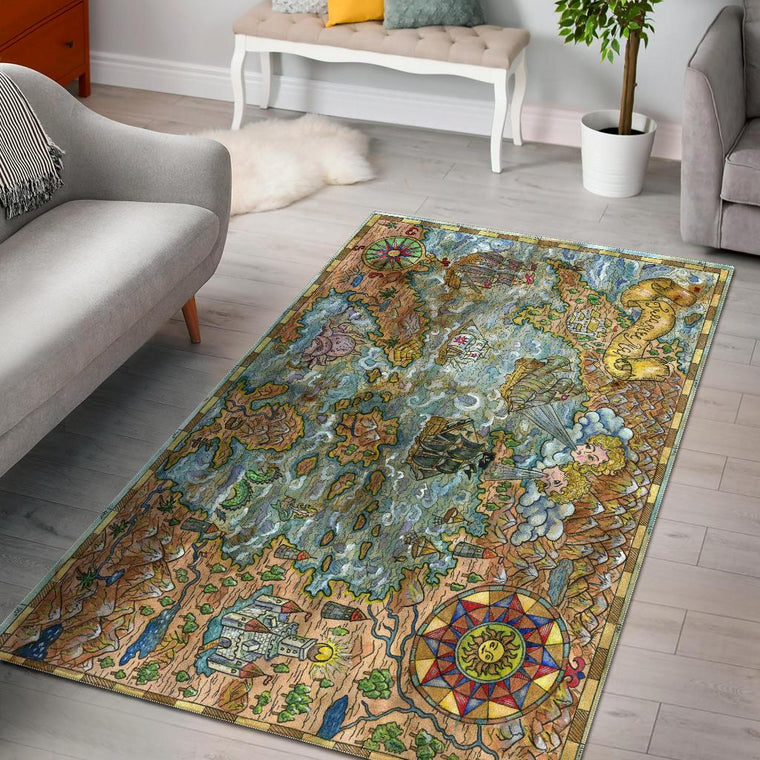 Treasure Map Area Rug